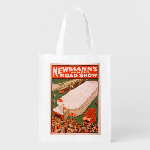 Newmann's Famous Magic Road Tent Show Poster Market Tote