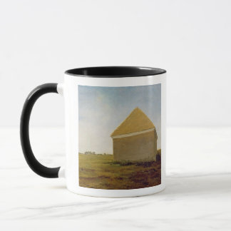 Newmarket Heath, with a Rubbing-Down House, c.1765 Mug
