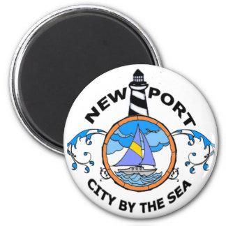 Newport. 6 Cm Round Magnet