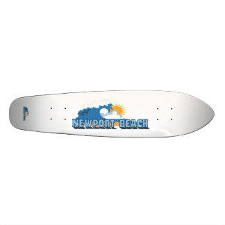 Newport Beach. 18.4 Cm Mini Skateboard Deck