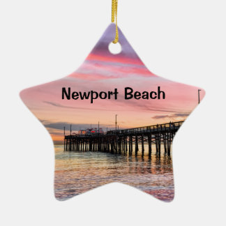 Newport Beach Balboa Pier Christmas Ornament