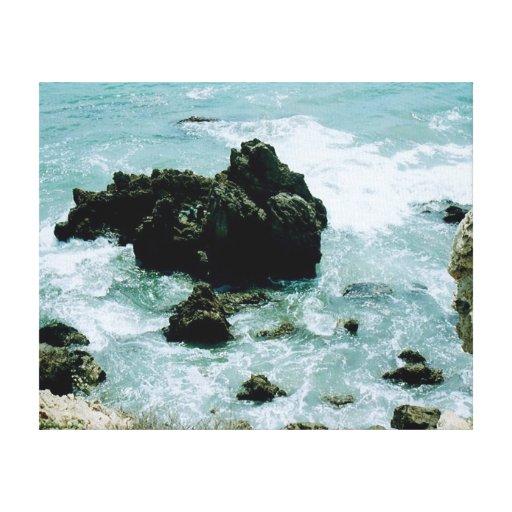 Newport Beach CA Rocky Coastline Pacific Ocean Art Gallery Wrap Canvas