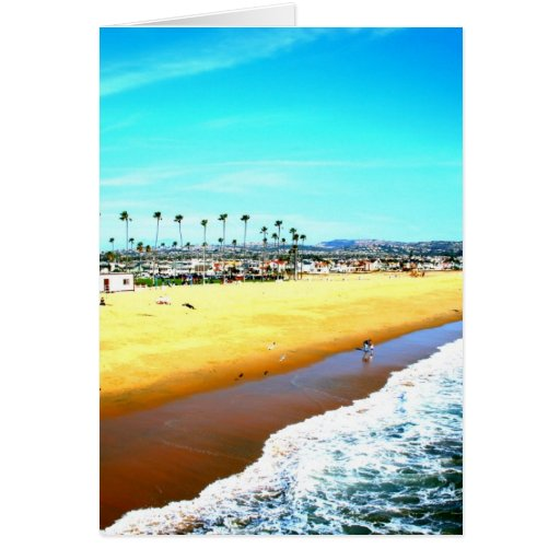 Newport Beach California ocean picture Greeting Card