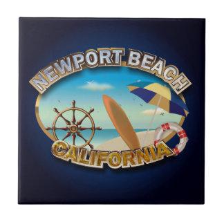 Newport Beach, California Small Square Tile