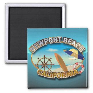 Newport Beach, California Square Magnet