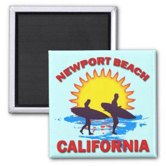 NEWPORT BEACH CALIFORNIA SQUARE MAGNET