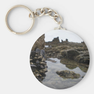 Newport Beach Muscles Basic Round Button Key Ring