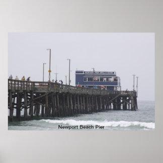 Newport Beach Pier California Poster