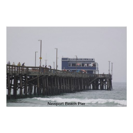 Newport Beach Pier California Poster