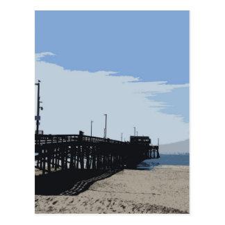 Newport beach pier postcard