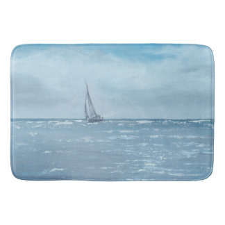 Newport Beach Sailing Bath Mat