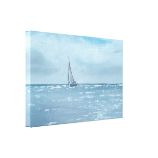 Newport Beach Sailing Canvas Print