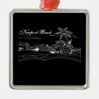 Newport Beach Surf Culture Christmas Ornament
