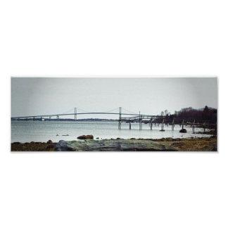 Newport Bridge Rhode Island 2 Print Art Photo