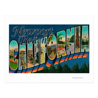 Newport, California - Large Letter Scenes Postcard