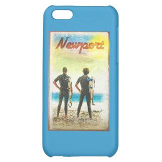 Newport California Vintage Surfer Print iPhone 5C Cases