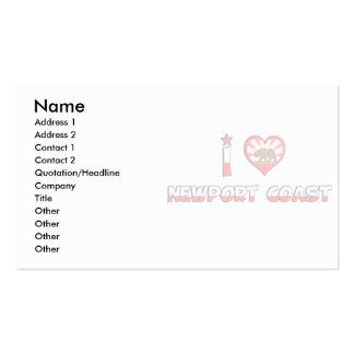 Newport Coast CA Business Card Template