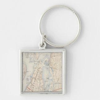 Newport County, Rhode Island Key Ring