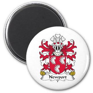 Newport Family Crest 6 Cm Round Magnet