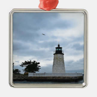 Newport Harbor Lighthouse Christmas Ornament