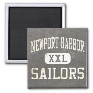 Newport Harbor Sailors Athletics Square Magnet
