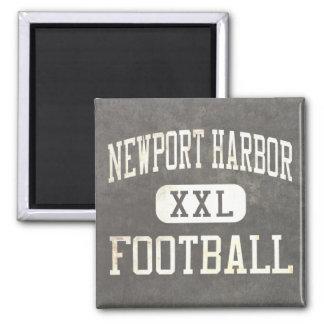 Newport Harbor Sailors Football Square Magnet