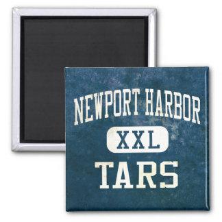 Newport Harbor Tars Athletics Square Magnet