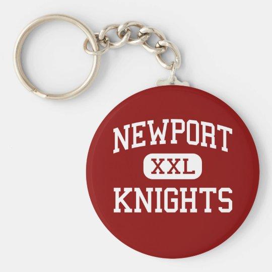 Newport - Knights - High - Bellevue Washington Basic Round Button Key Ring