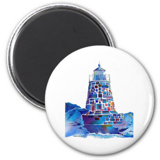Newport Lighthouse Gifts 6 Cm Round Magnet