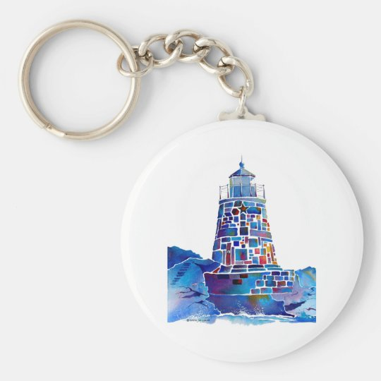 Newport Lighthouse Gifts Basic Round Button Key Ring
