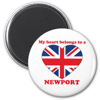 Newport 6 Cm Round Magnet