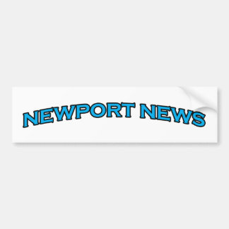 Newport News Virginia Arched Text Logo Bumper Sticker