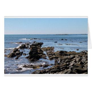 newport ocean cliffs greeting card