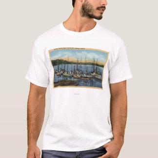 Newport, Oregon - Salmon Fishing Fleet in Yaquin T-Shirt