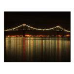 Newport Pell Bridge at Night Rhode Island Postcard