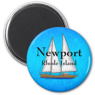 Newport Rhode Island 6 Cm Round Magnet