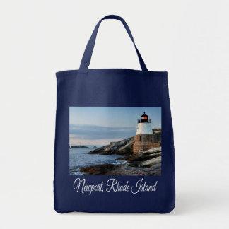 Newport, Rhode Island Lighthouse Canvas Tote Bag