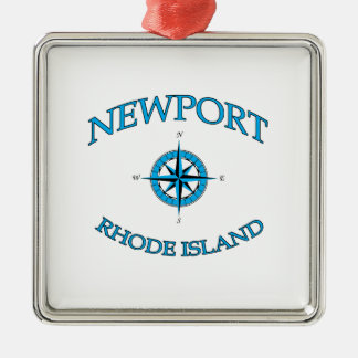 Newport Rhode Island Nautical Christmas Ornament