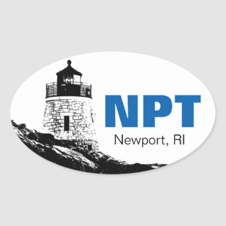 Newport, Rhode Island oval bumper sticker