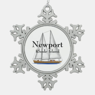 Newport Rhode Island Pewter Snowflake Decoration