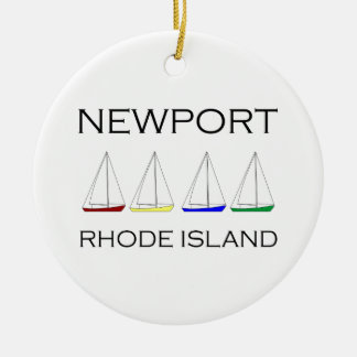 Newport Rhode Island Sailboats Christmas Ornament