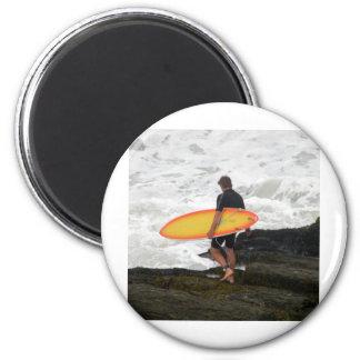 Newport Rhode Island Surfer 6 Cm Round Magnet