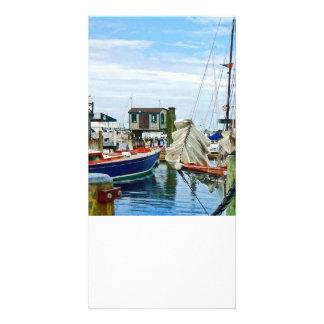 Newport RI - Folded Sails Customised Photo Card
