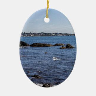 newport ri ocean view ceramic oval decoration