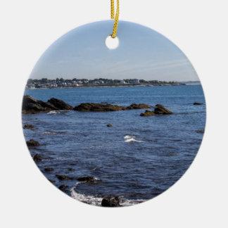 newport ri ocean view round ceramic decoration