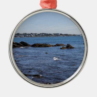 newport ri ocean view Silver-Colored round decoration