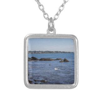 newport ri ocean view square pendant necklace