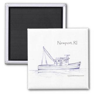 Newport RI Square Magnet