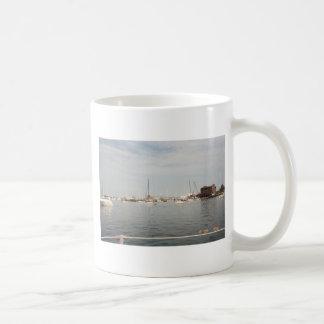 Newport sailing basic white mug