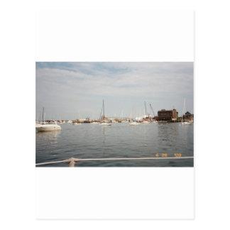 Newport sailing postcard